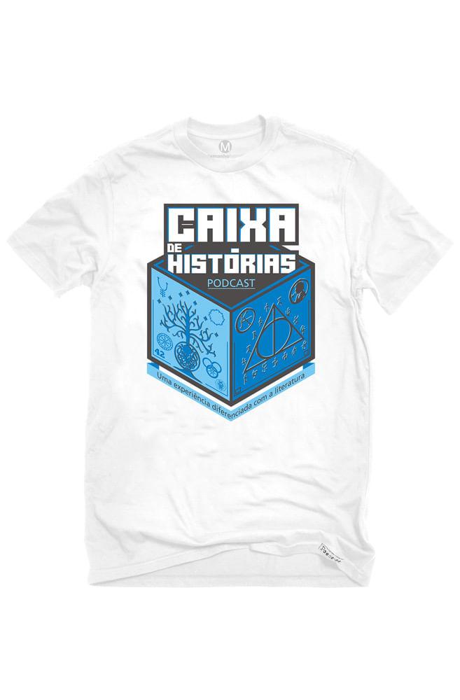 Camiseta Branca Caixa de Histórias