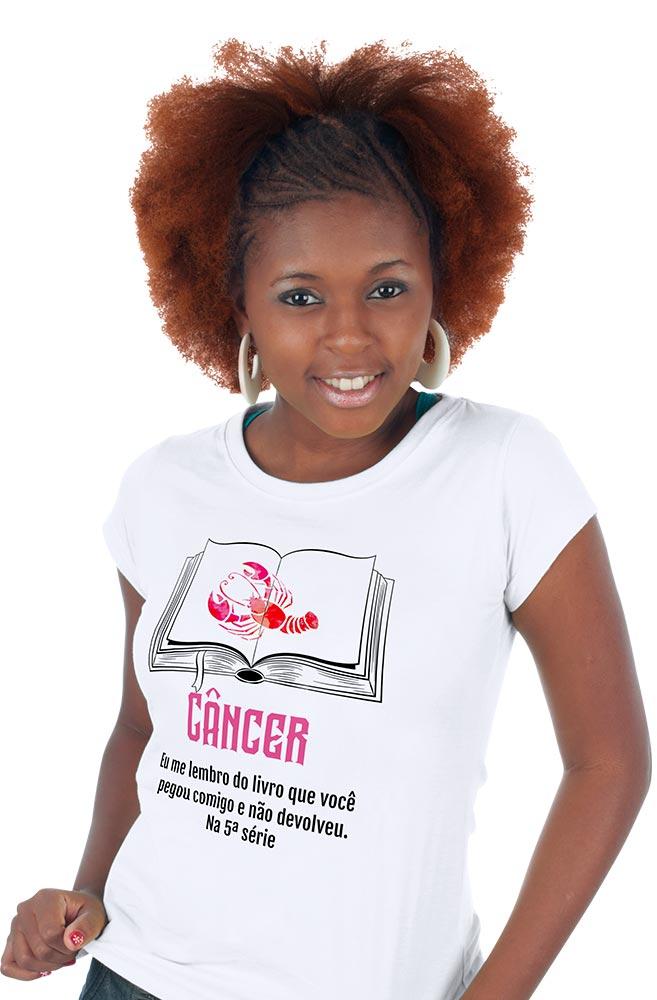 Camiseta Branca Cancerianos leitores