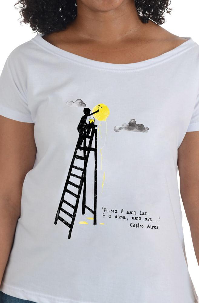 Camiseta Branca Castro Alves