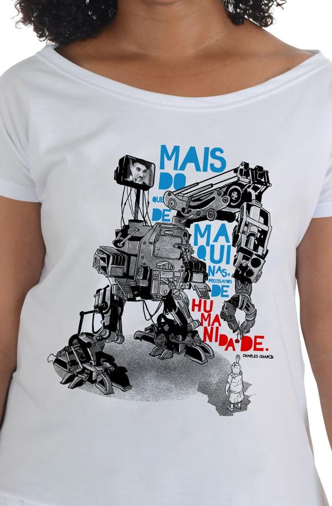Camiseta Branca Chaplin
