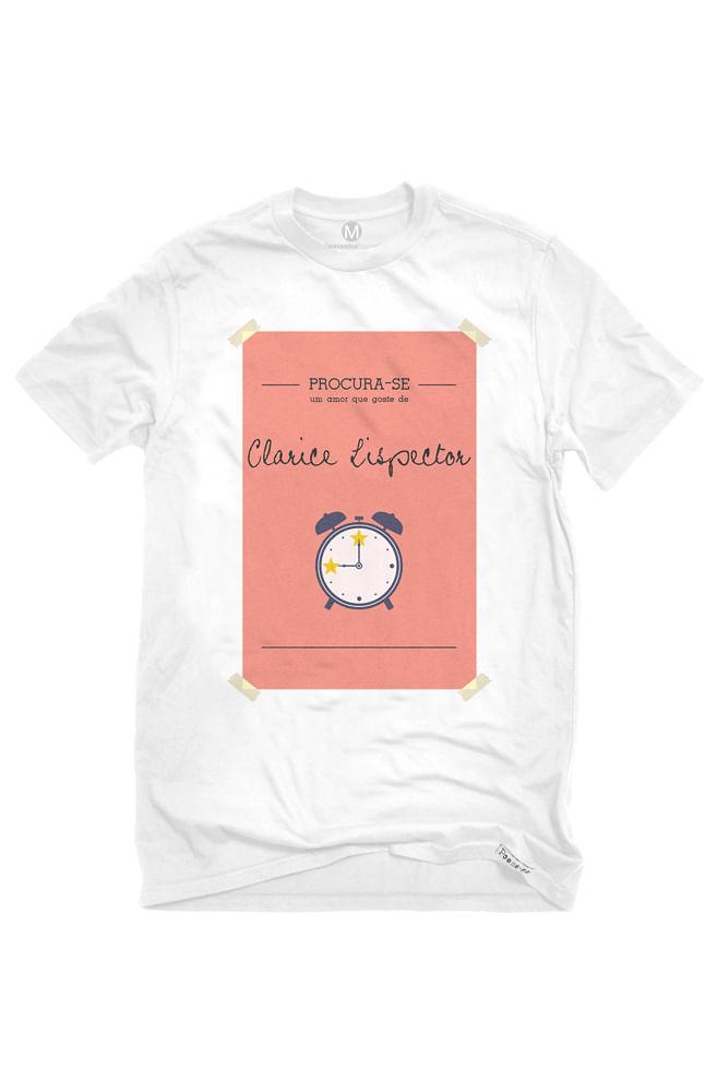 Camiseta Branca Clarice Lispector