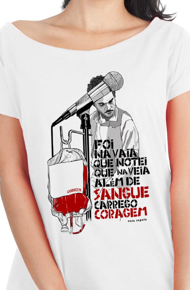 Camiseta Branca Coragem