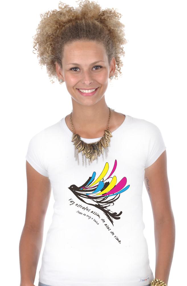 Camiseta Branca Cruz e Sousa