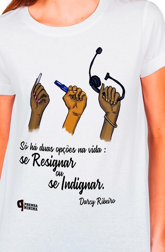 Camiseta Branca Darcy Ribeiro
