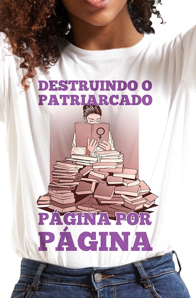 Camiseta Branca Destruindo o Patriarcado
