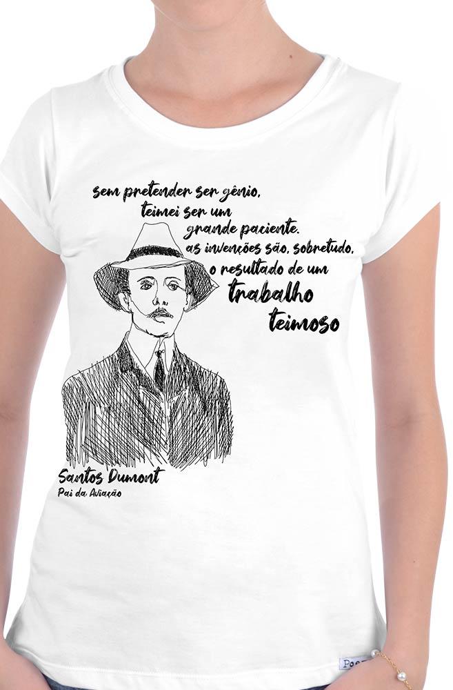 Camiseta Branca Dumont, pai da aviação