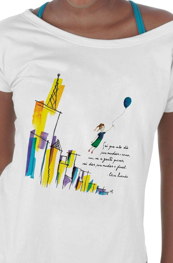 Camiseta Branca Elisa Lucinda