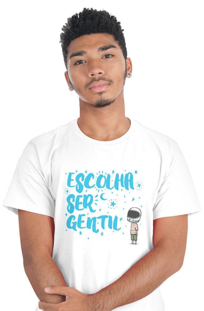 Camiseta Branca Escolha ser Gentil