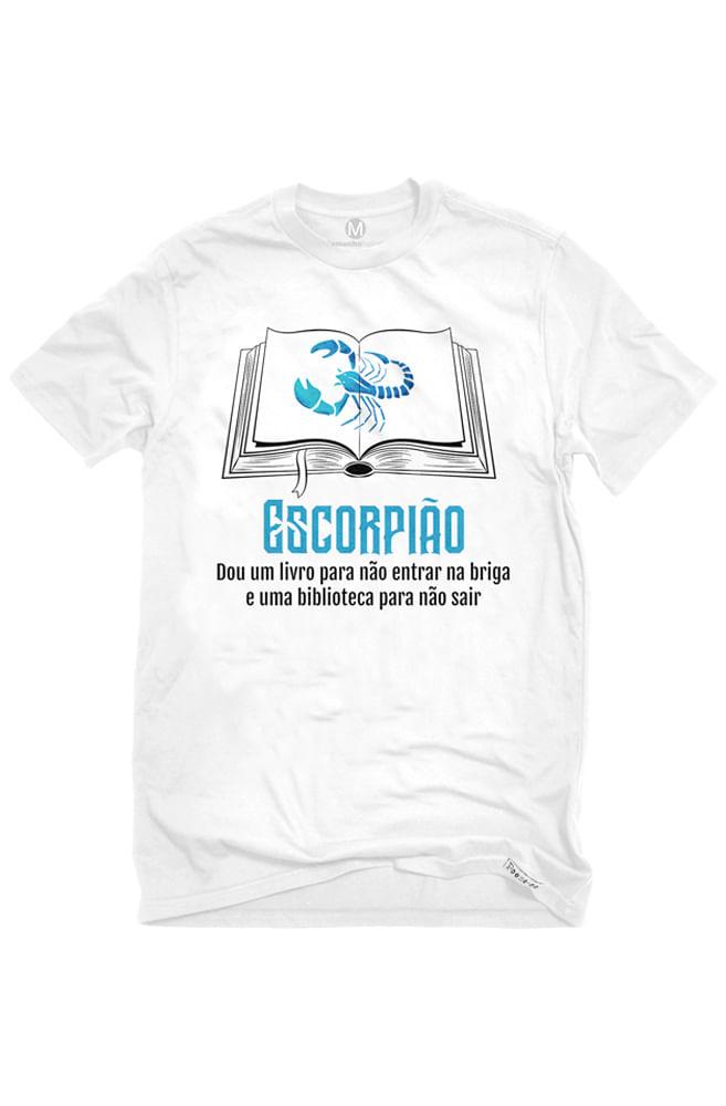 Camiseta Branca Escorpianos leitores