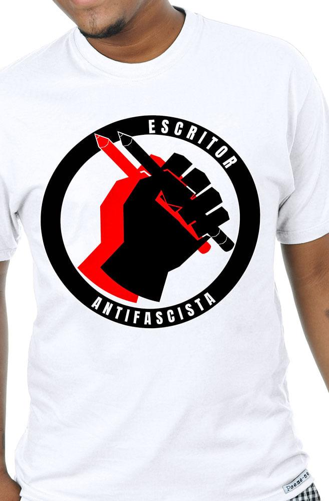 Camiseta Branca Escritor Antifascista