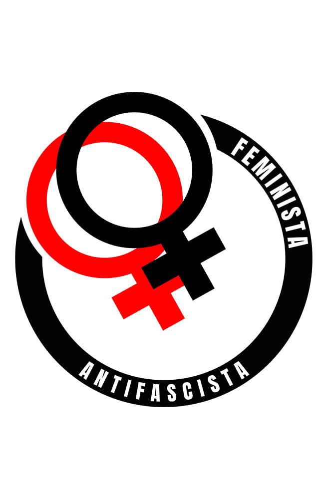 Camiseta Branca Feminista Antifascista