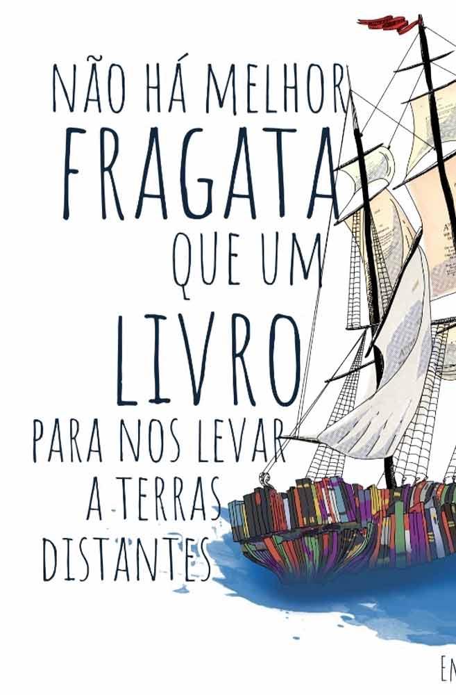 Camiseta Branca Fragata literária: Emily Dickinson