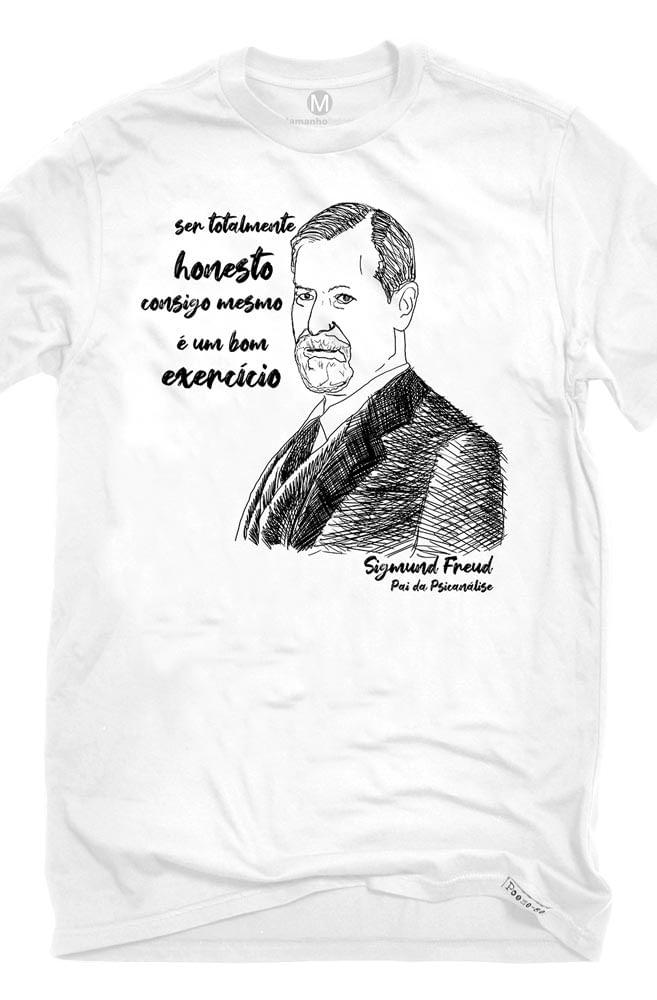 Camiseta Branca Freud, pai da psicanálise