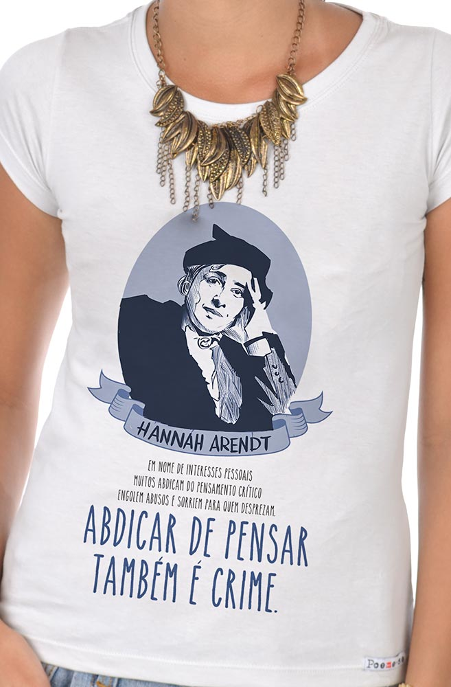 Camiseta Branca Hannah Arendt