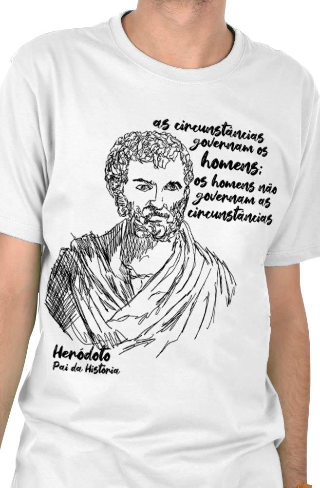 Camiseta Branca Heródoto, pai da história