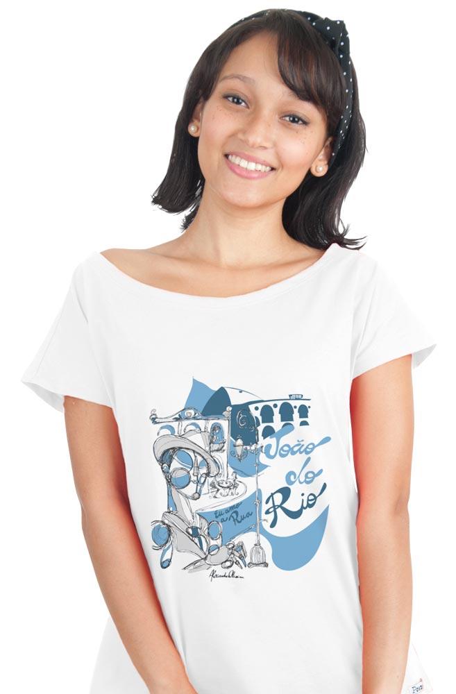 Camiseta Branca João do Rio