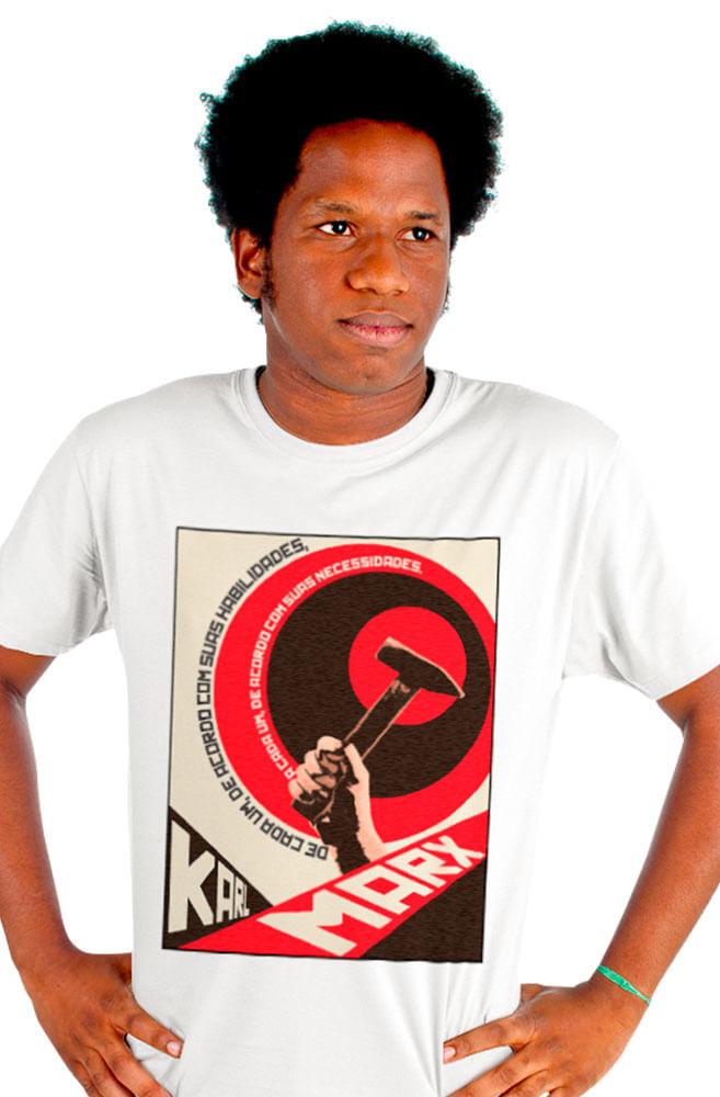 Camiseta Branca Karl Marx socialista