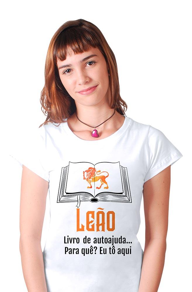 Camiseta Branca Leoninos leitores