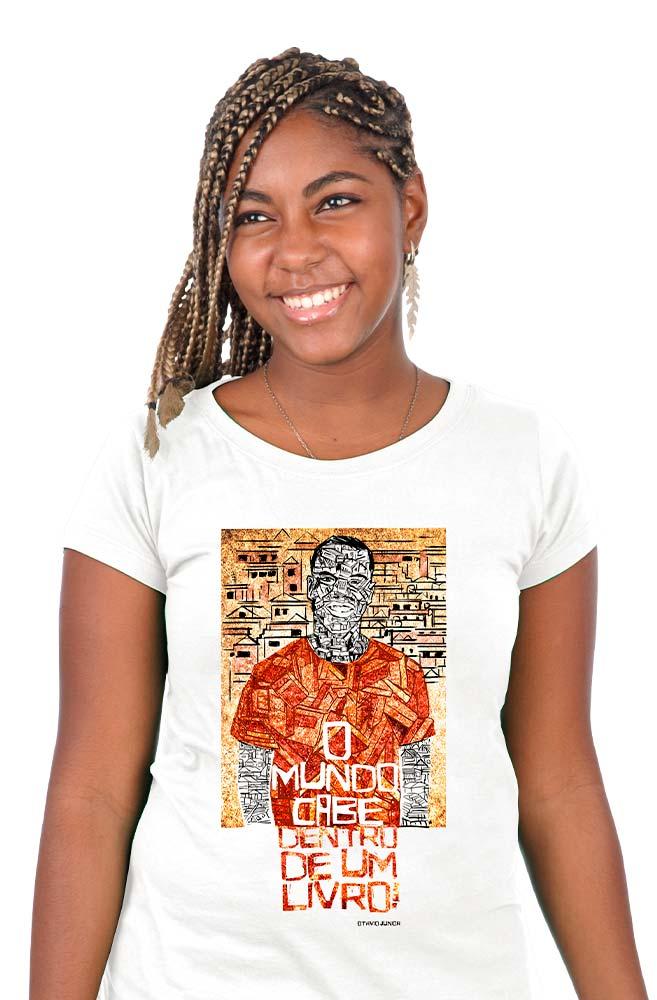 Camiseta Branca Livreiro do Alemão