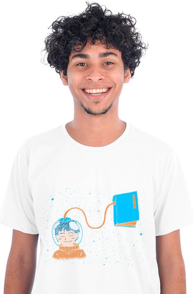 Camiseta Branca Livro Meu Oxigênio