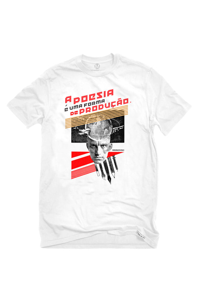 Camiseta Branca Maiakovski revolucionário