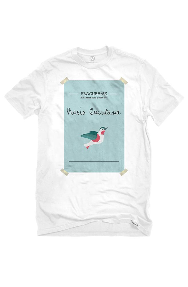 Camiseta Branca Mário Quintana