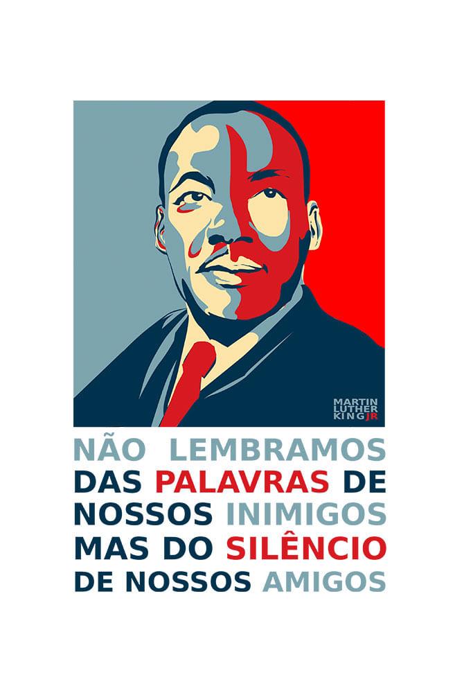 Camiseta Branca Martin Luther King