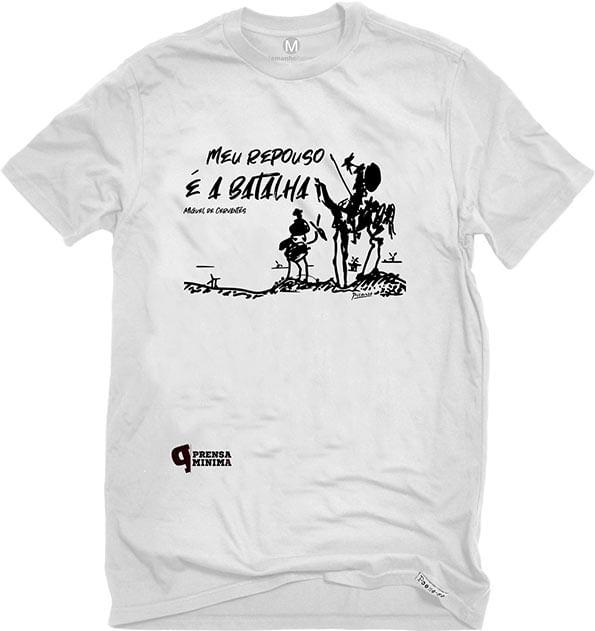 Camiseta Branca Meu repouso é a batalha