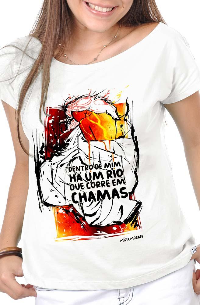 Camiseta Branca Míria Moraes