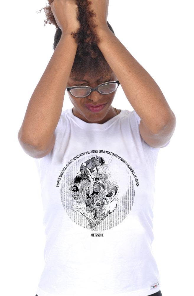 Camiseta Branca Nietzsche