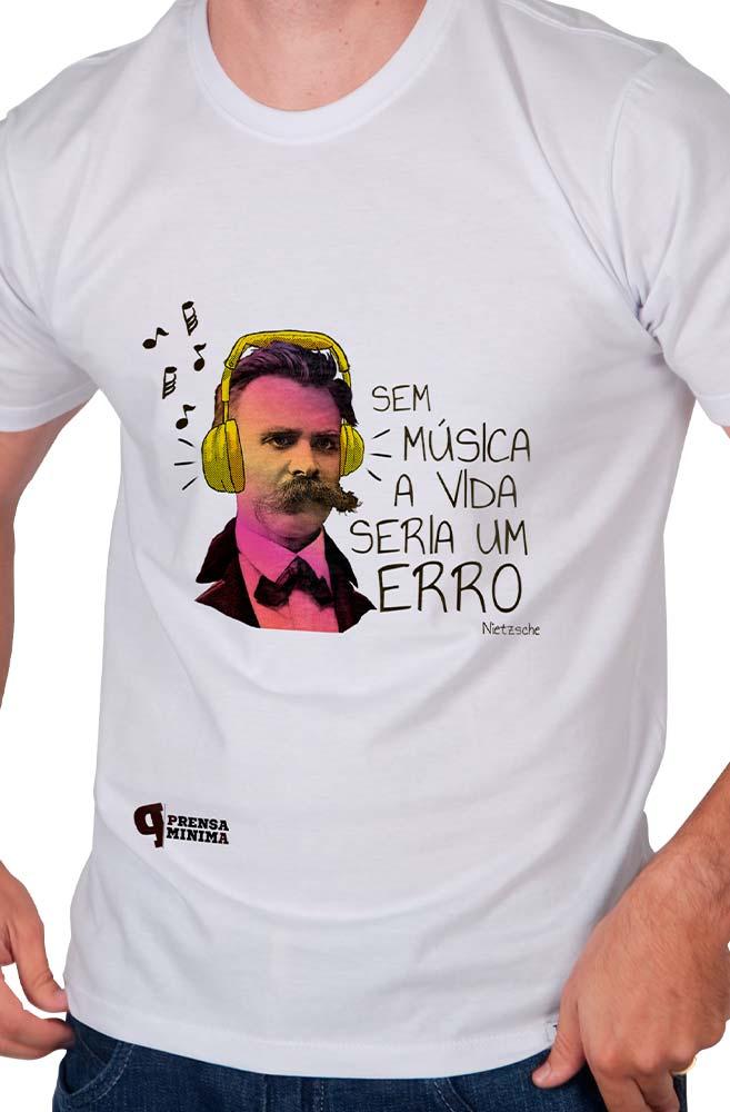 Camiseta Branca Nietzsche & Música