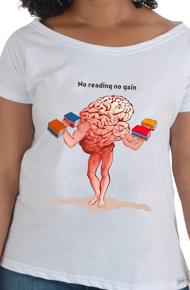 Camiseta Branca No read, no Gain