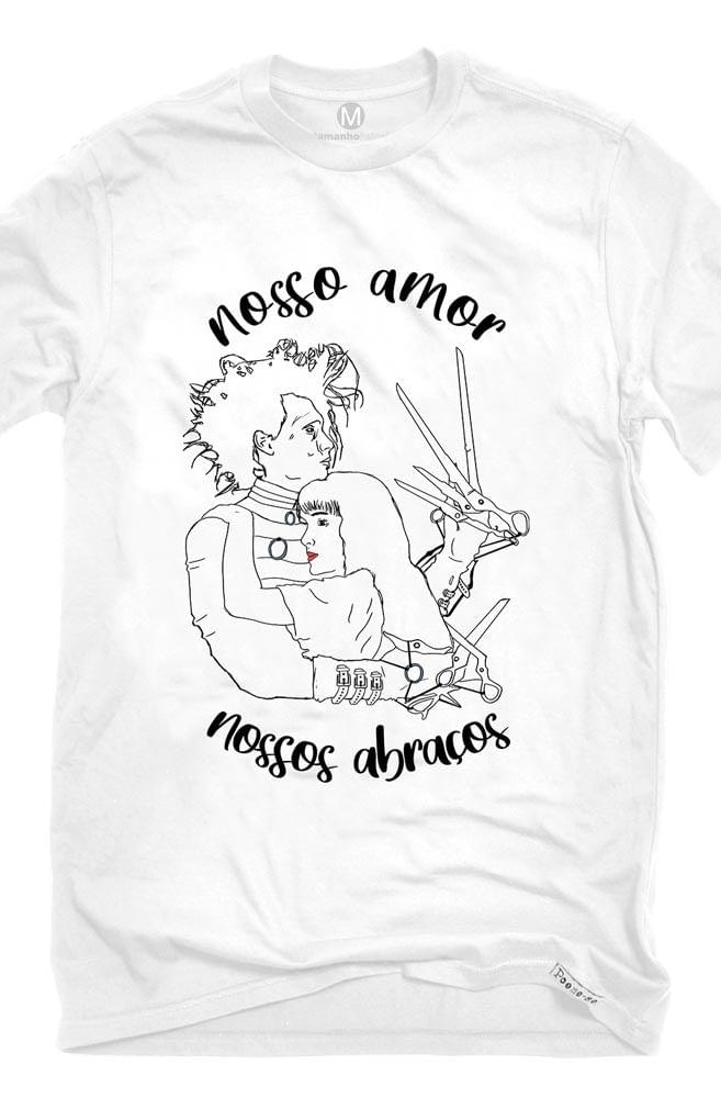Camiseta Branca Nossos abraços
