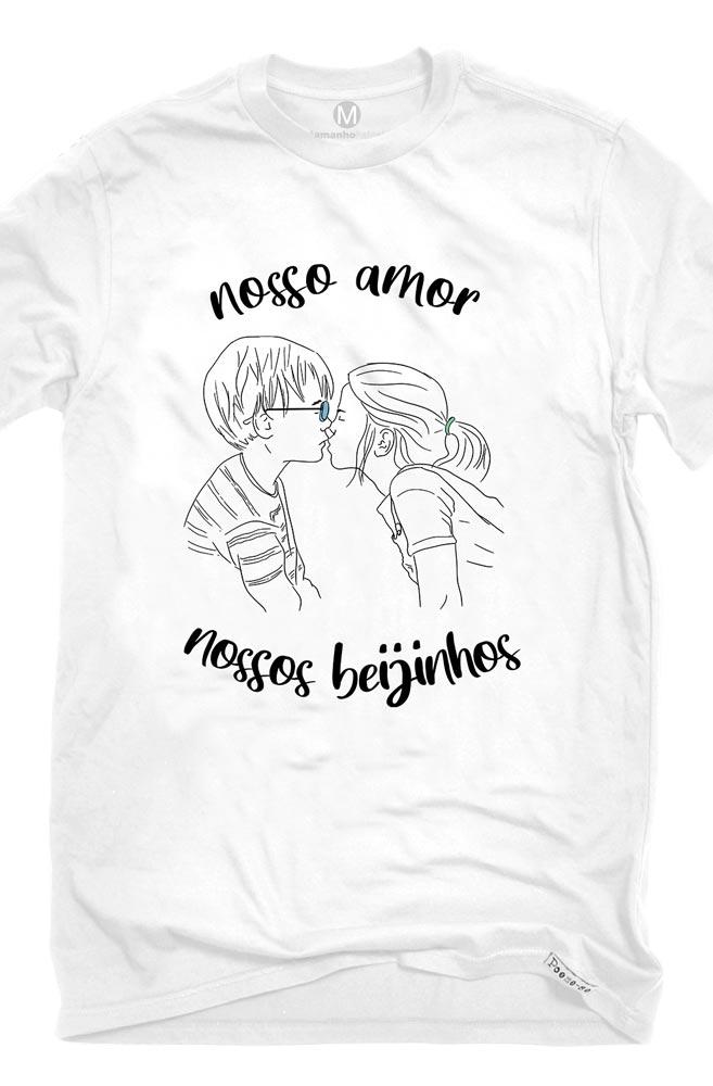 Camiseta Branca Nossos Beijinhos