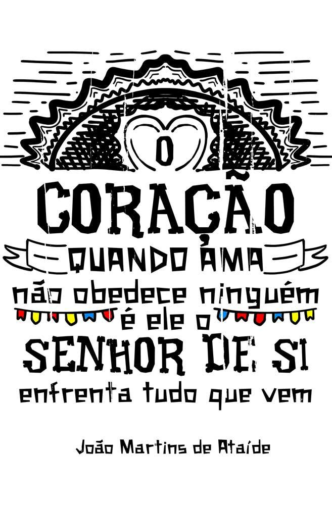 Camiseta Branca O Amor em Cordel: Martins de Ataíde
