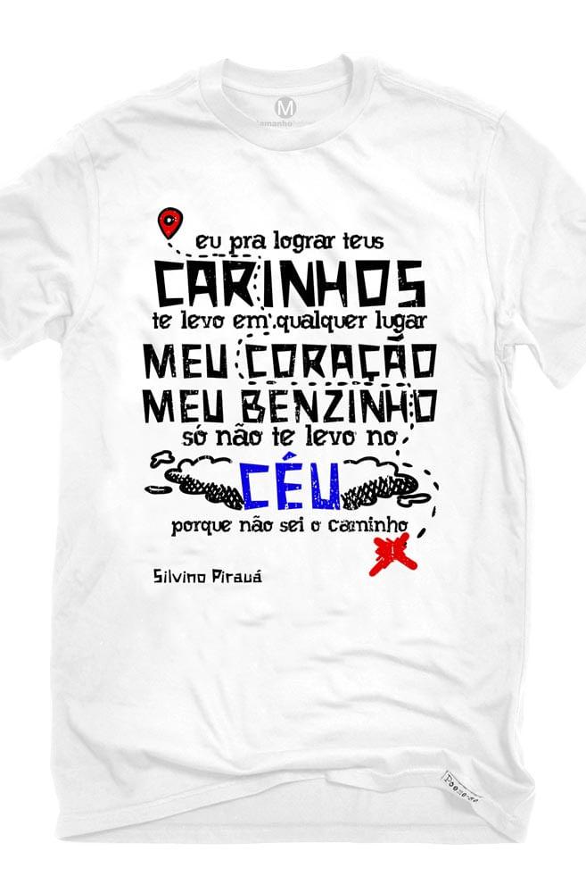 Camiseta Branca O Amor em Cordel: Silvino Pirauá