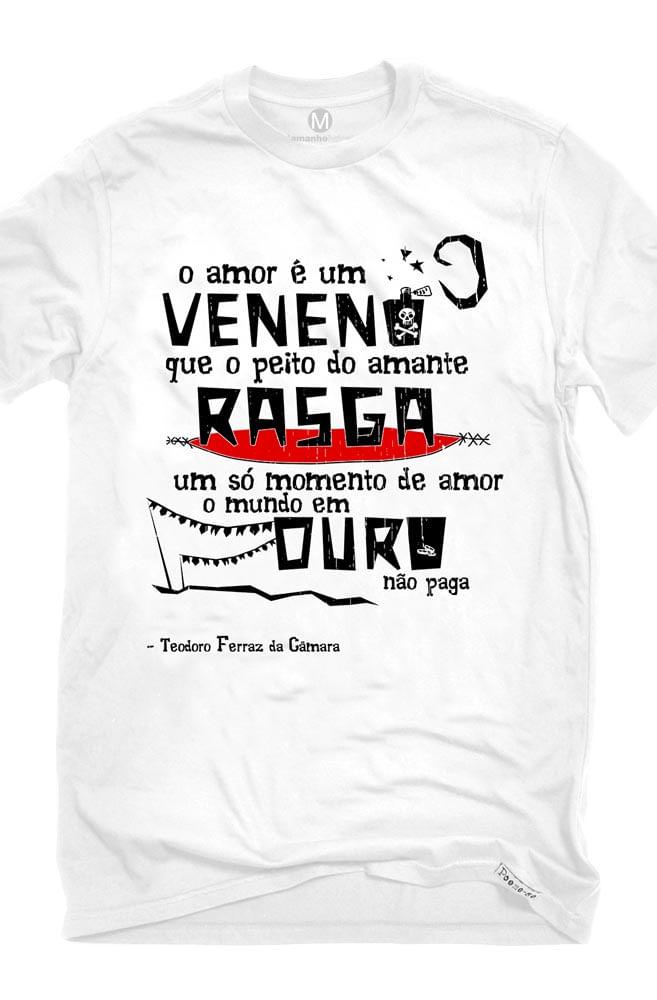 Camiseta Branca O Amor em Cordel: Teodoro Ferraz