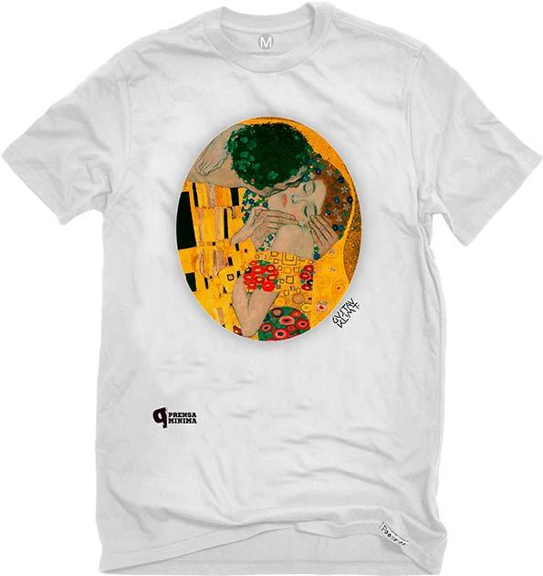Camiseta Branca O Beijo, Klint