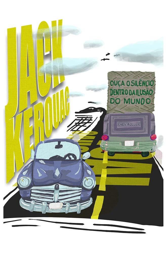 Camiseta Branca O Silêncio de Jack Kerouak