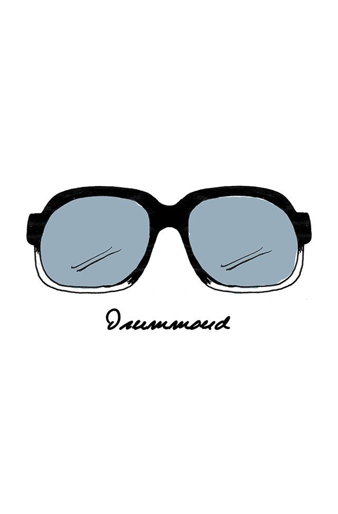 Camiseta Branca Óculos Drummond