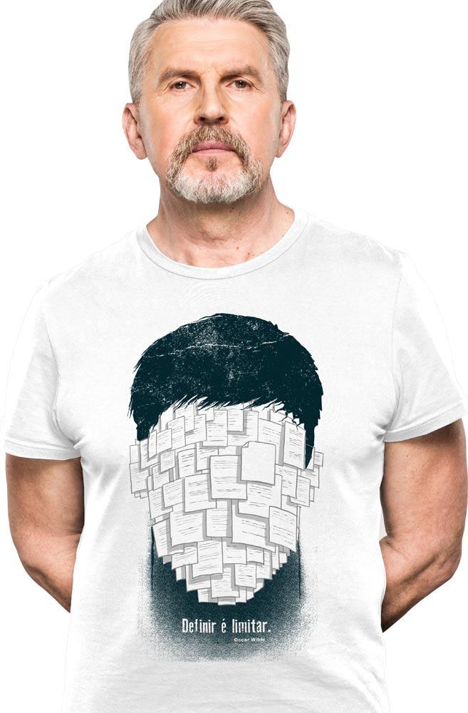 Camiseta Branca Oscar Wilde
