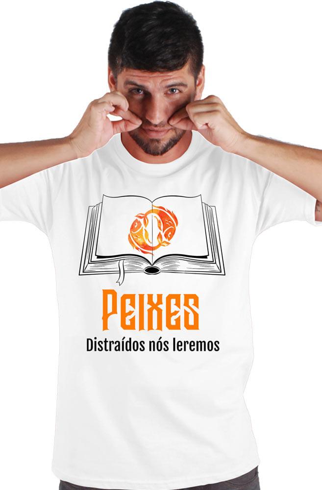 Camiseta Branca Piscianos leitores