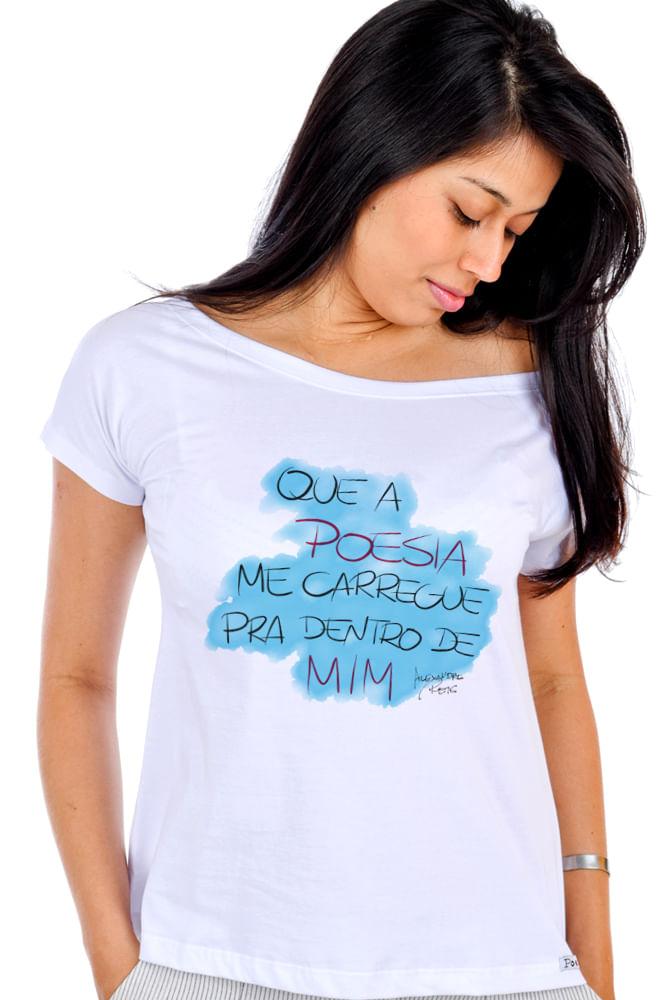 Camiseta Branca Poesia em Mim