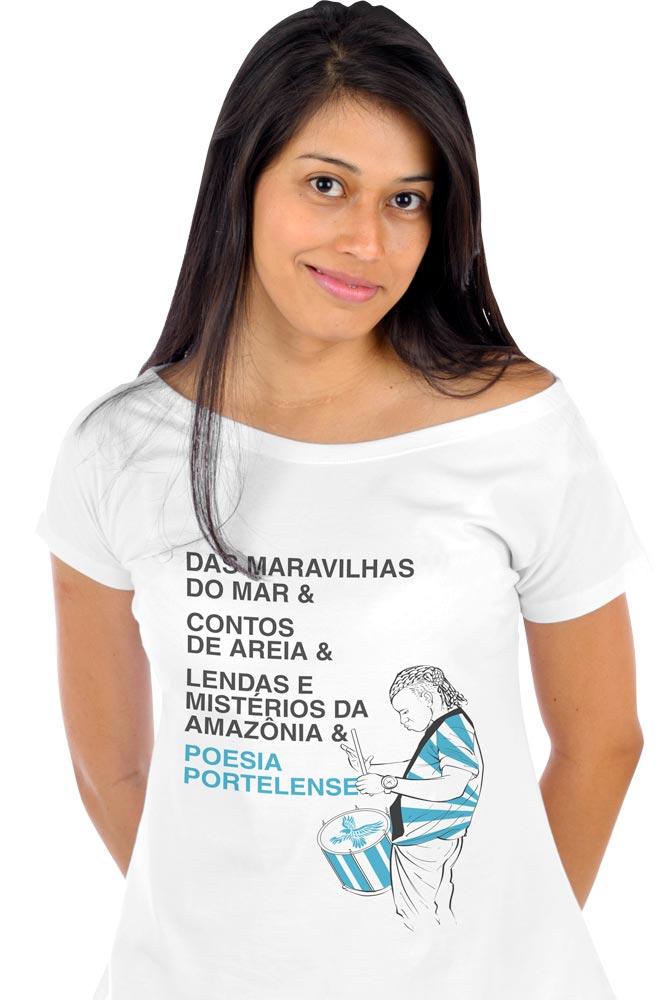 Camiseta Branca Poesia Portelense