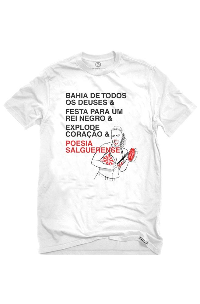 Camiseta Branca Poesia Salgueirense