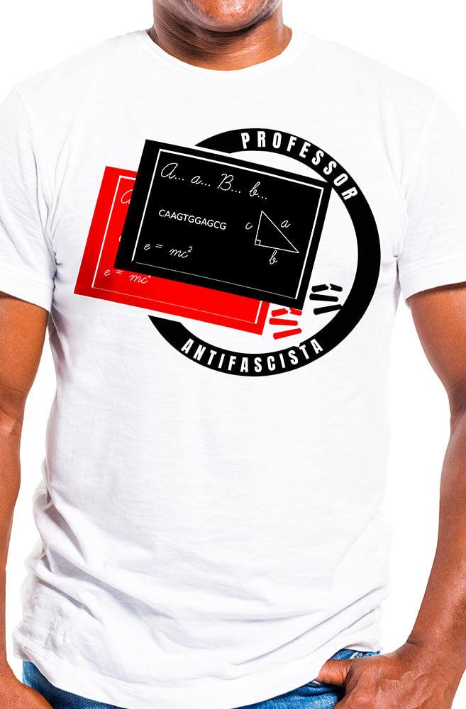 Camiseta Branca Professor Antifascista