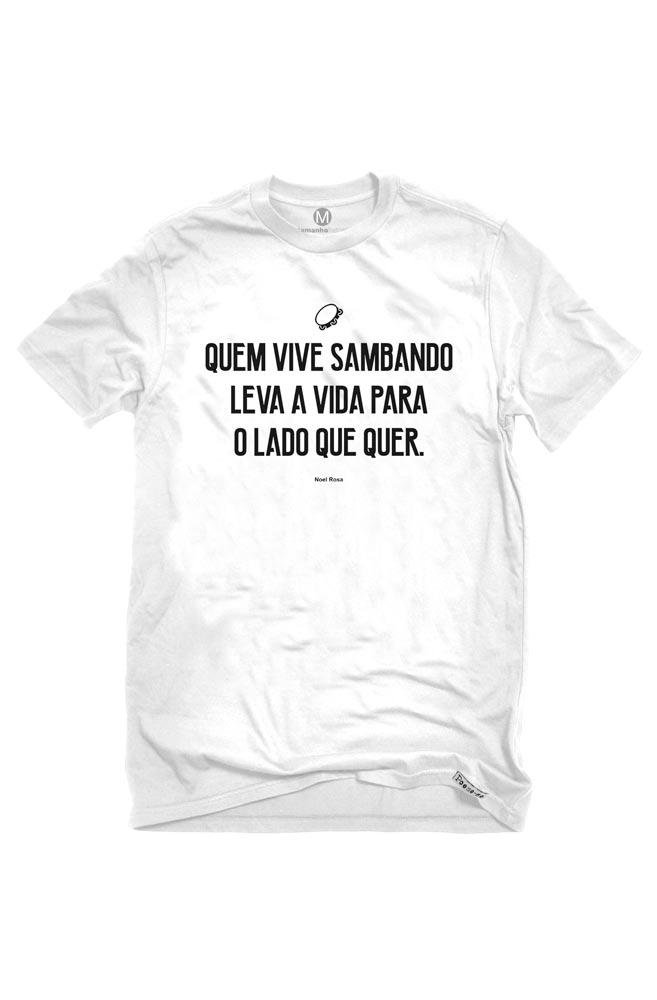 Camiseta Branca Quem vive sambando