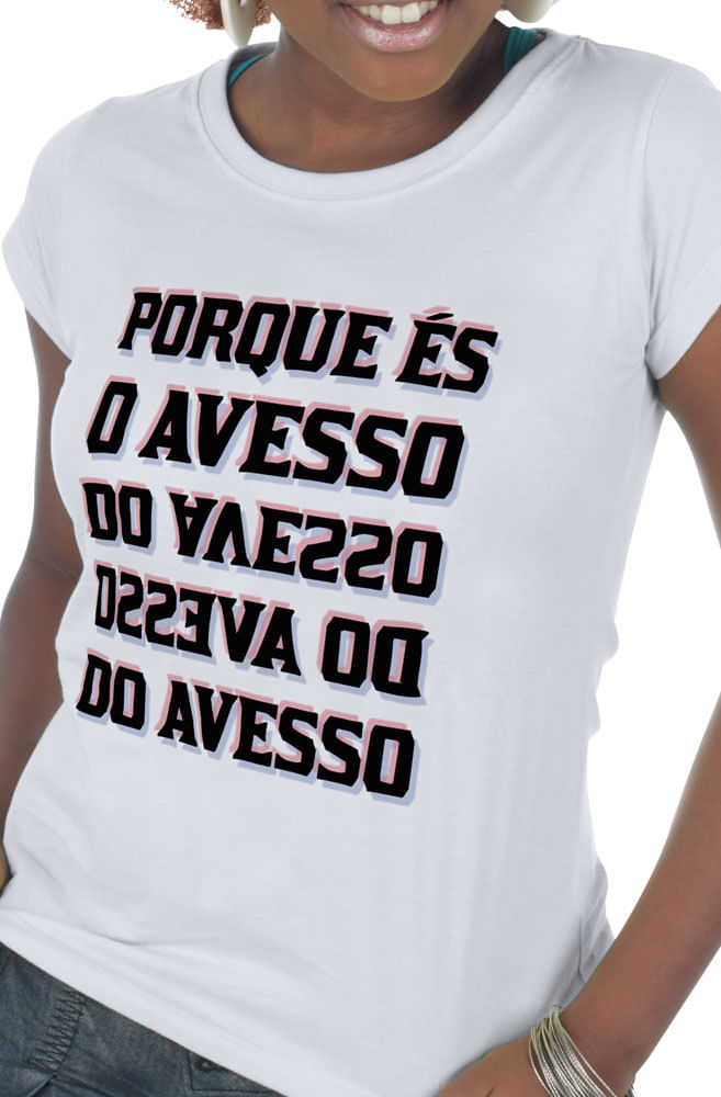 Camiseta Branca Sampa: Avesso do Avesso