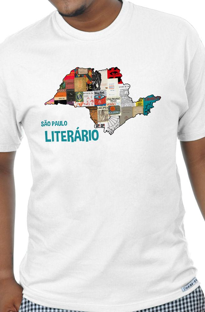 Camiseta Branca São Paulo Literário