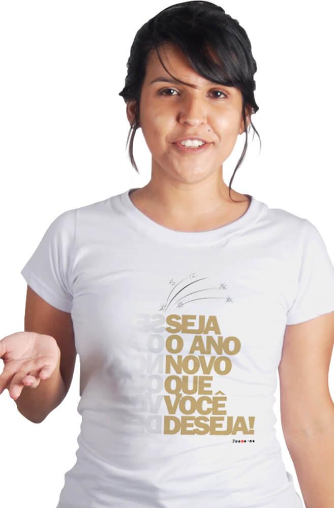 Camiseta Branca Seja o Ano Novo